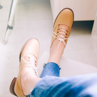 No heavy light bottom! Fluffy cotton nude muscle strap shoes full leather MIT milk tea brown