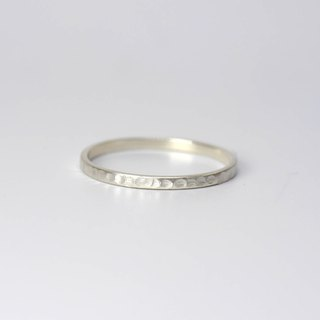 Pinky Ring - Handcrafted Ring - Stackable Ring - Hammered Ring