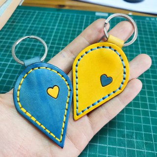 Couple key ring customized gift confession must have a heart to match Valentine's sniffing hand made