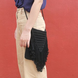 Crossbody Bag ,Black Crochet Bag ,Crochet Bag Boho Bag ,Shoulder Bag