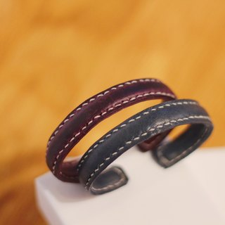 Make Your Choicesss hand-stitched Italian leather strap jewelry bracelet a couple