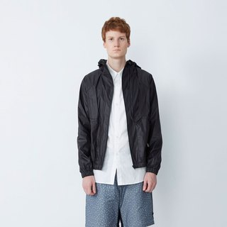 Good mood - short hat light windbreaker - black