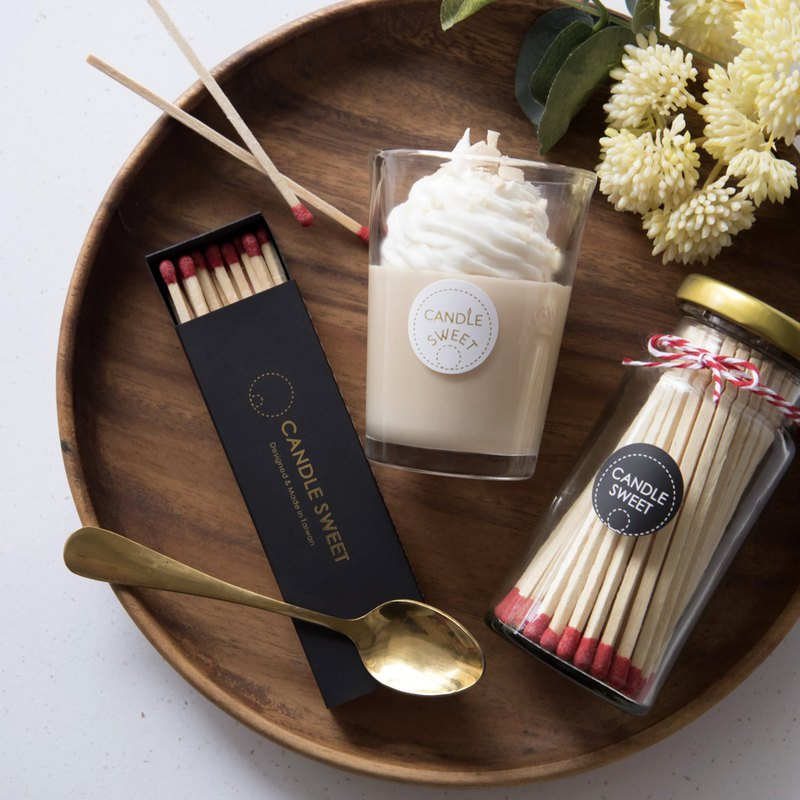精油蠟燭+罐裝長火柴-優惠組合(大杯)