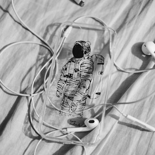 Astronaut case / spaceman full covered transparent phone case