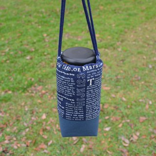 English newspaper beverage bag/water bottle holder/beverage carrier