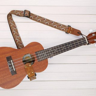 Brown Retro Ukulele Strap