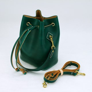 [Cutline] bucket bag pure hand-stitched vegetable tanned leather ladies shoulder bag shoulder bag handbag bottom