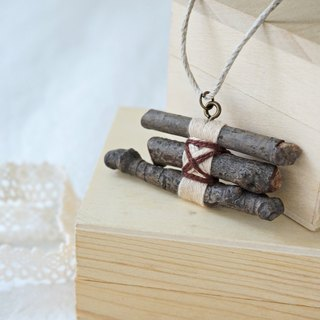 Upcycling, Eco, Natural, tree branches, wood necklace  - Natural colour