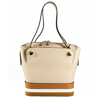 ITA BOTTEGA [Made in Italy] leather platform portable shoulder bag
