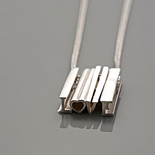 Frankness | 925 Sterling Silver Letter Necklace