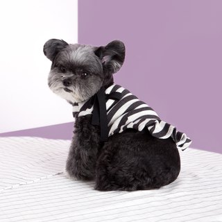 #bff bow dress _ gray and black stripes