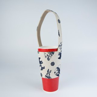 Pu.sozo cloth hand made (animal totem) environmental protection cup sets drink cup sets beverage bag
