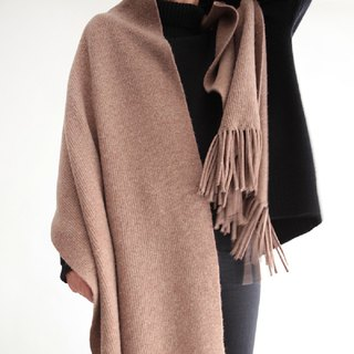 Koow Touch Me warm crater wool cashmere scarf skin-feeling tassel shawl
