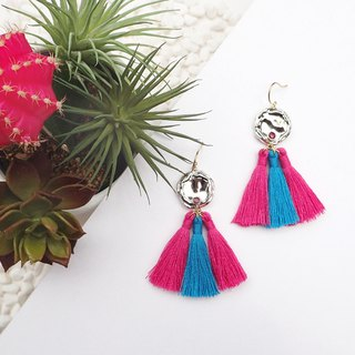 Bicolor Tassel Earrings
