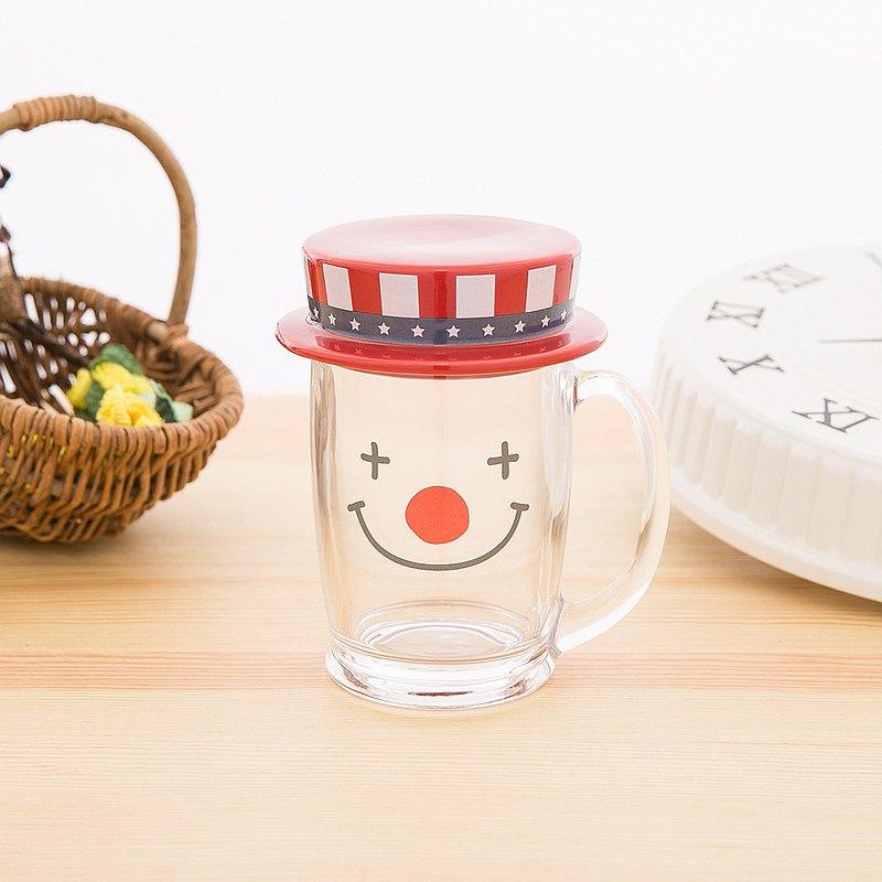 日本 sunart 玻璃馬克杯 - 小丑