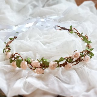 Flower crown, Rustic wedding crown, pink rose wreath, hair accessories, Bridal headpiece, Floral accssories, woodland wreath C2
