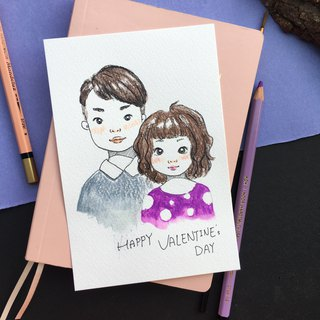 Couple Custom Portraits | Valentine's Day Gift - Cute Illustration Style
