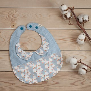 Duckling round collar egg pocket bibs saliva towel six-layer yarn