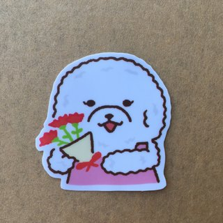 VIP daily bouquet small waterproof sticker SS0077