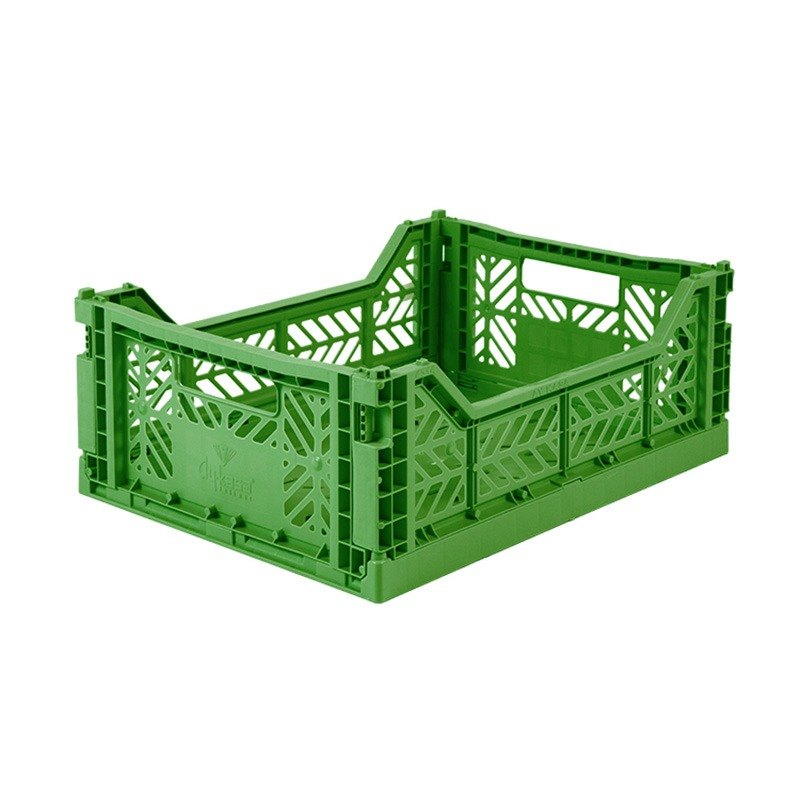 Turkey Aykasa Folding Storage Basket (M) - Forest Green
