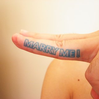 Wedding proposal / MARRY ME / tattoo sticker