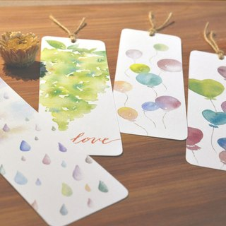 Hand painted watercolor bookmarks - four single sold