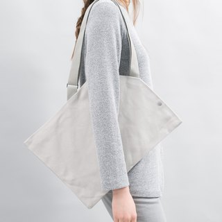 DIAGONAL Tote Bag (Cement Grey)