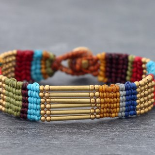 Macrame Bracelets Color Stripe Rainbow Colorful Cuff Ethnic