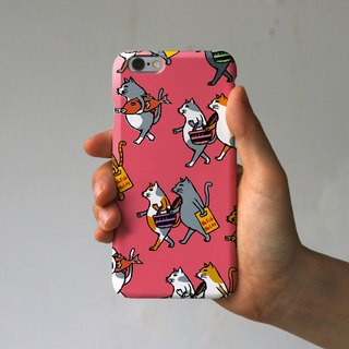 IPhone case cats (pink)