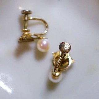 1940s Cultra Natural Pearl Antique Earrings