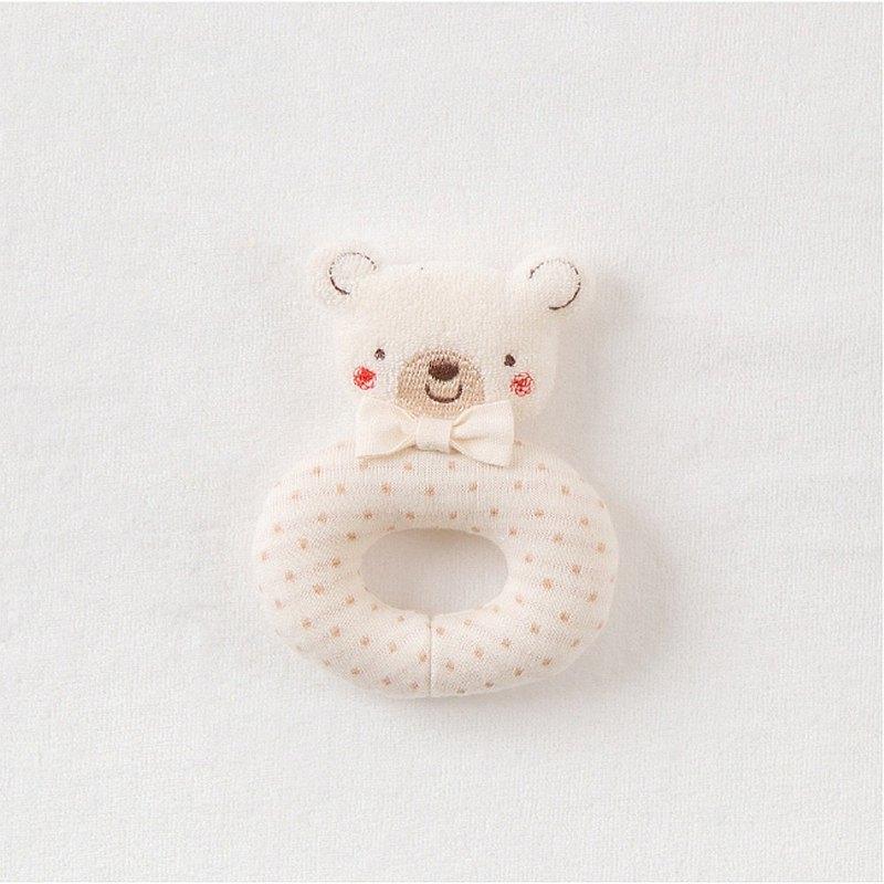 【Amorosa Mamma有機棉】嬰兒手搖鈴 (點點熊 )