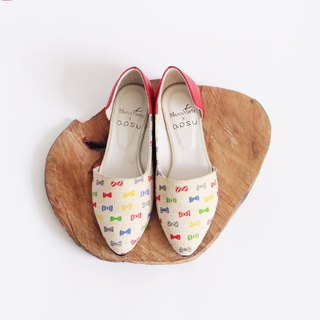 啾啾 啾啾 shop side hollow shoes / handmade custom / Japanese fabric / M2-17337F