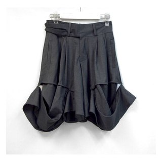 TIMBEE LO gray skirt section pants can be fitted to suit clothes