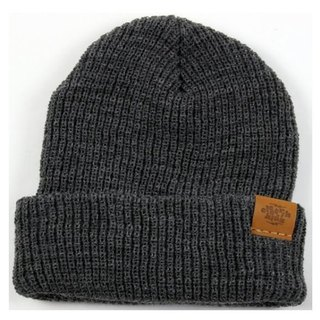 Literary Youth Warm Hooded Hat - Melancholy Gray