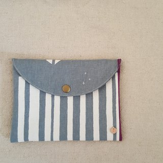 [Not shy] sanitary cotton pouch gray bottom totem