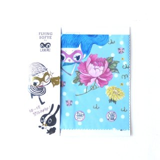 Glasses cloth wipe mirror cloth. Flying Sofye cute illustrations