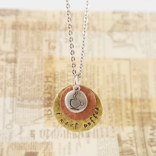 Coffee-I need coffee- lettering tag necklace custom coffee gourmet handicrafts jewelry accessories