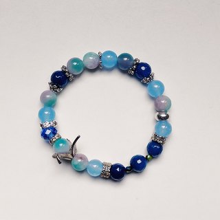 2019 Birthstone Birth of Stone Blue Chalcedony in March