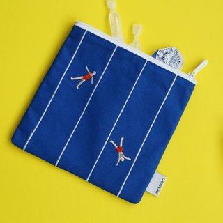 Small fresh embroidery storage bag -09 swimming, E2D16401