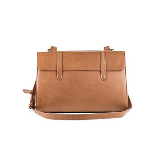Melody Leather Mini Musical Shoulder Bag - Raw Leather Nude [Showcase Clearance]