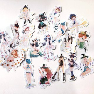 Witch Party  Stickers pack 17pcs