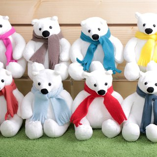 Polar bear doll [Boute bottle recycling environmental fiber fabric]