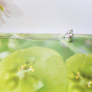 925 sterling silver, you are my little apple [apple necklace]