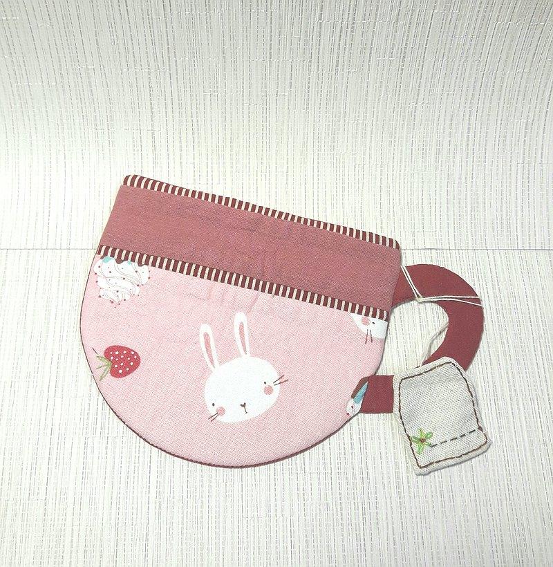 胖胖咖啡杯墊 粉紅 杯墊 小鳥 小茶包標籤 禮物