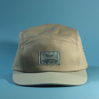 warm grey and khaki 5panel cap