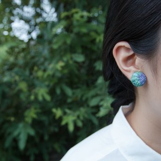 Crystal embroidery earring n. /round