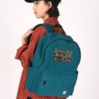 KIITOS new contrast color embroidered barrage series shoulder bag---green barrage shoulder bag