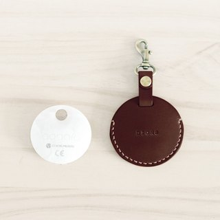 LION's Handmade Leather – gogoro Key Ring Key Leather Can (Brown)