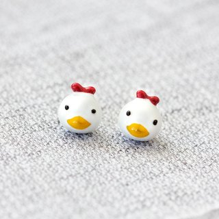 Chicken Earrings with 925 Sterling Silver needle - Rooster Year