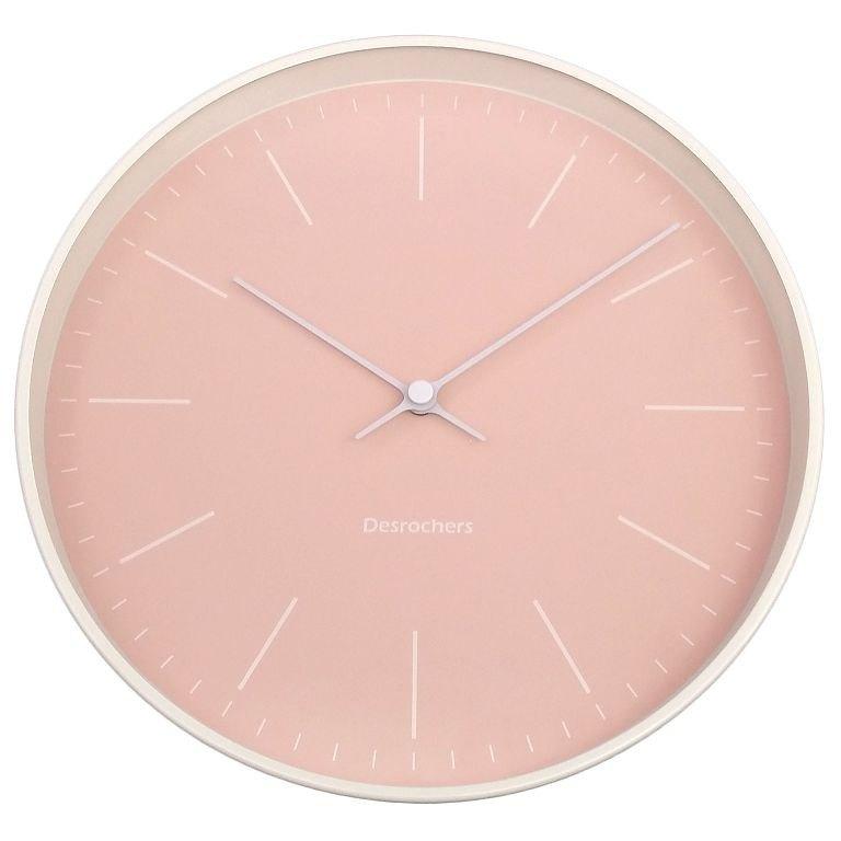 Pared - 粉紅線條掛鐘 時鐘 靜音 (金屬)